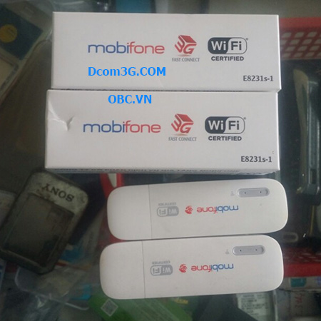Unlock, bẻ khóa mở mạng, hack USB 3g Mobifone E8231 dùng đa mạng, nhiều sim