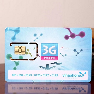 Sim 3G Vinaphone 18Gb ezCom khuyến mãi 12 tháng
